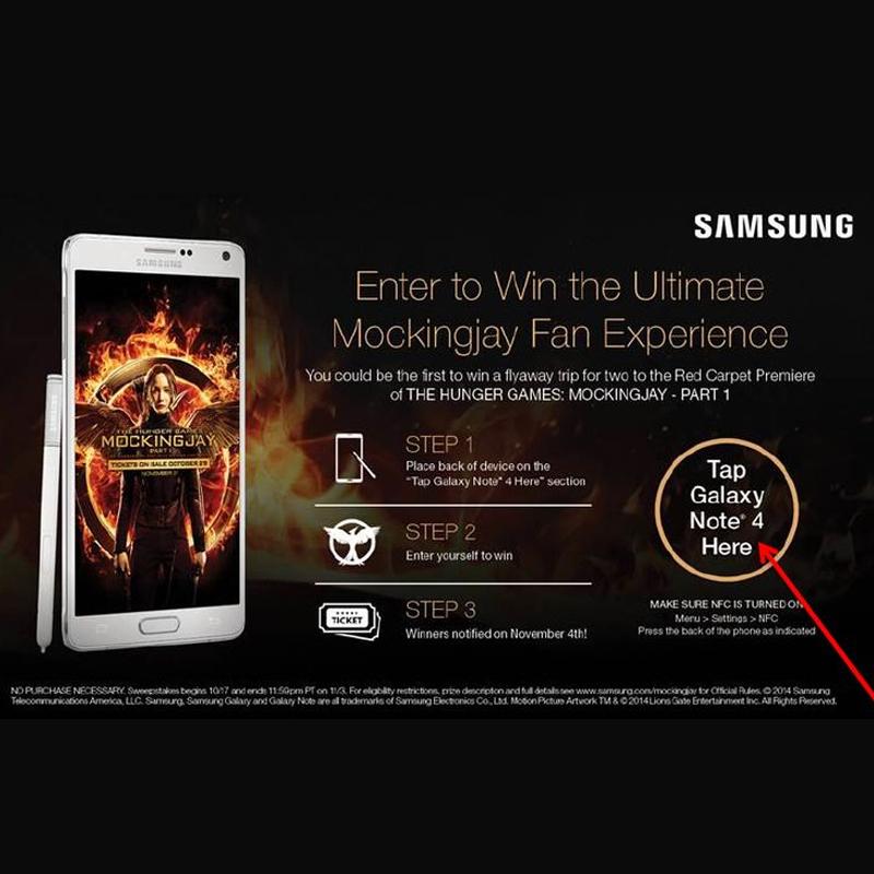 Samsung-Verizon- Mockingjay In Store Promo